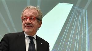 El gobernador de Lombardia,Roberto Maroni.