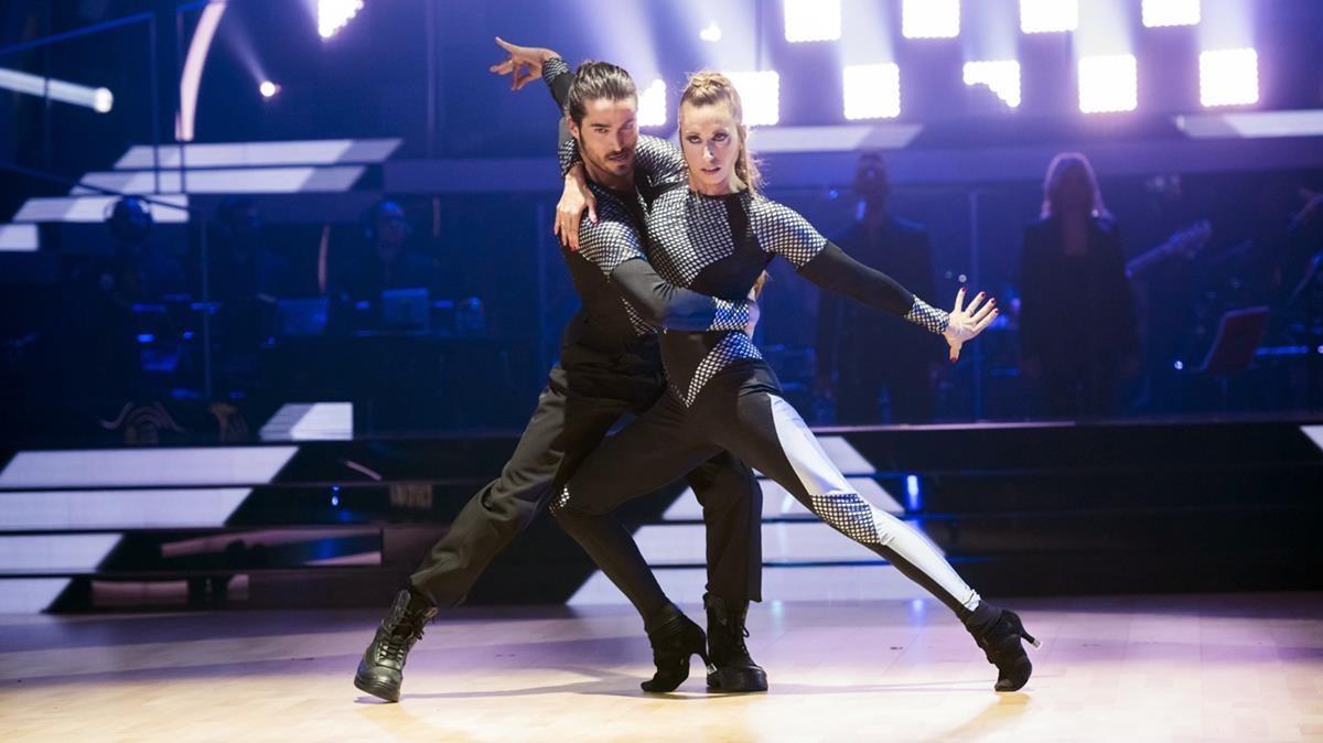 Imagen de una de las galas del concurso de TVE-1 Bailando con las estrellas.