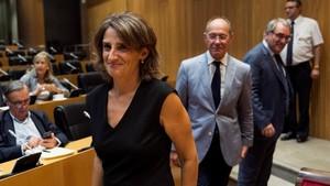La ministra Teresa Ribera, en el Congreso, el pasado 6 de septiembre.