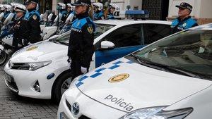 Unidades de la Guardia Urbana de Lleida.