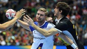 Morros, defendiendo la camiseta de la selección española.