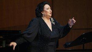Montserrat Caballé, en una actuación en elLiceu.