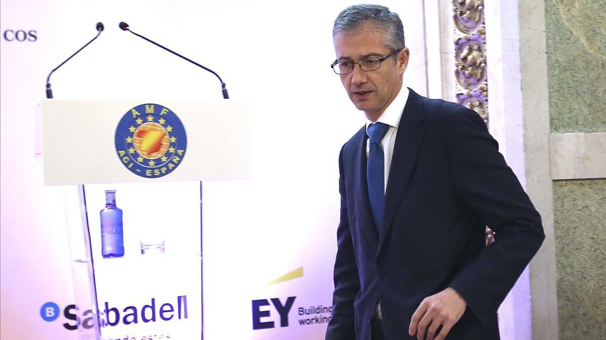El Banc d'Espanya demana resoldre «com més aviat millor» la incertesa política