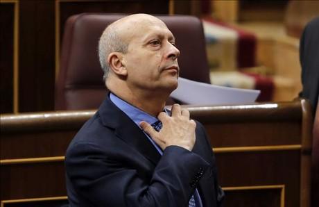 El ministro de Educación, José Ignacio Wert, en el pleno del Congreso de los Diputados, el pasado 20 de noviembre.