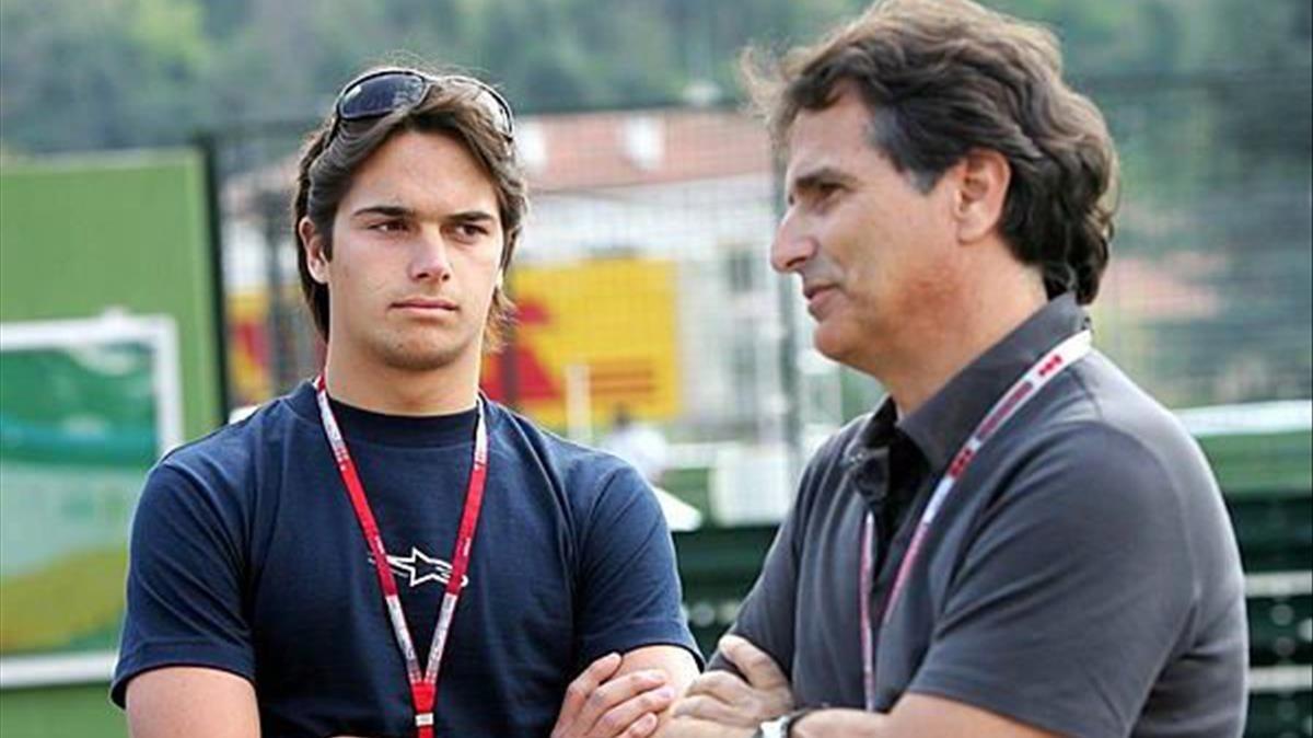 Nelson Piquet (derecha), con su hijo Nelsinho, hace unos años.