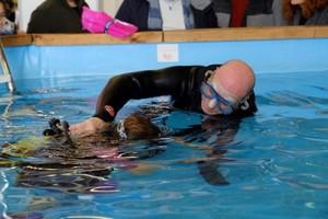 Muestra en la feria de submarinismo de Cornellà.
