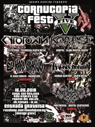 Parets acull la 5a edició del festival de metal extrem Cornucopia Fest