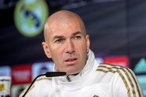 Zinedine Zidane en rueda de prensa este martes.