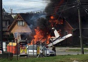 Una avioneta chocacontra una casa enPuerto Montt,Chile.