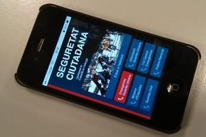La APP Seguridad Ciudadana instalada en un móvil.
