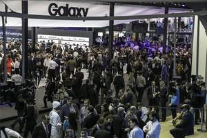 Asistentes en el Mobile World Congress de Barcelona del 2018.