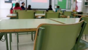 Unaula de un centro escolar catalán.