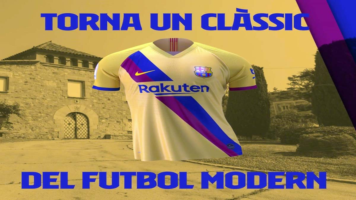 El vídeo del FC Barcelona en el que presenta la segunda camiseta de la temporada, de color amarillo.