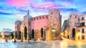 El barrio Gótico de Barcelona, situado en el distrito de Ciutat Vella