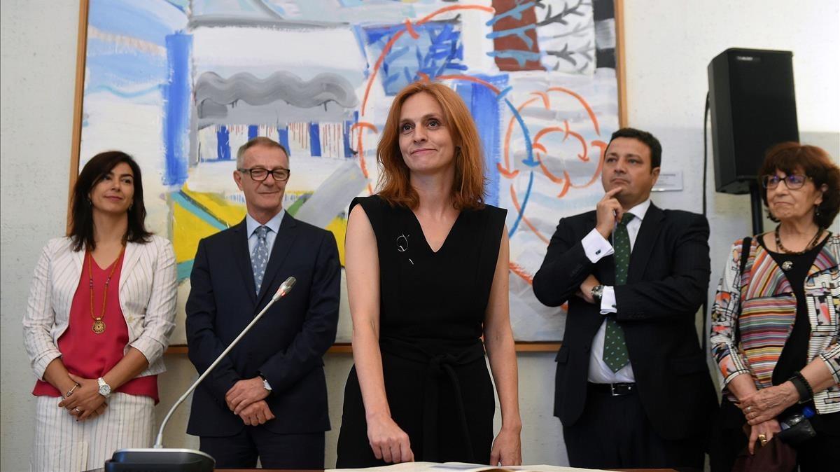 Beatriz Navas, en su toma de posesión como nueva directora general del ICAA
