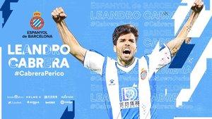 Cabrera ya es jugador del Espanyol.