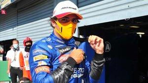 Carlos Sainz (McLaren) partirá mañana en tercera plaza en Monza.