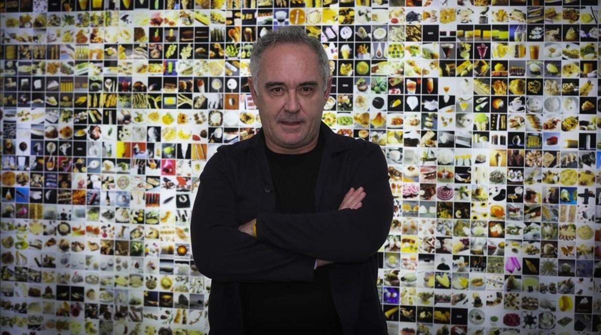 Ferran Adria, en el Bulli Foundation de la calle Mexic, en el barrio de Sants-Montjuic.