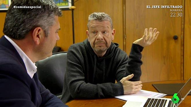 Chicote, con el político en A Coruña.
