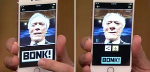 Selfi de Clint Eastwood con la app Bonk.