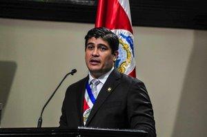 El Presidente de la Republica de Costa Rica,Carlos Alvarado.