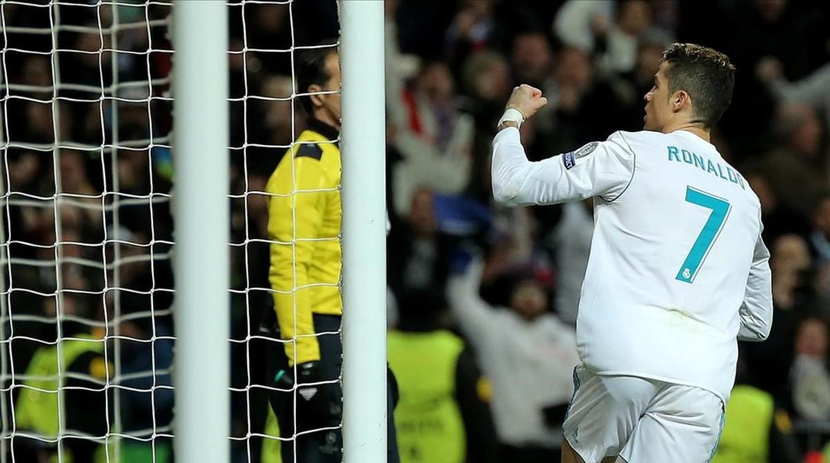 Cristiano Ronaldo celebra un gol marcado al PSG.