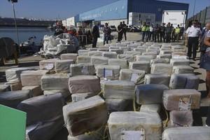 Decomiso de 3.800 kilos de cocaína en el puerto de Cádiz.