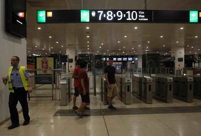La estación ha recobrado la normalidad a lo largo de la noche.