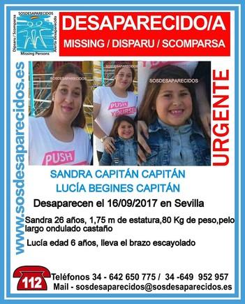Desaparecida en Sevilla una mujer embarazada y su hija de seis años