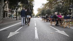 La Diagonal, durante el día sin coches del 2015.