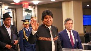 El presidente de Boliviay candidato a la reelección, Evo Morales.