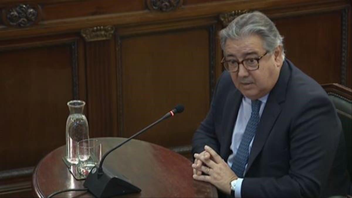 El exministro del Interior, Juan Ignacio Zoido, en el juicio del procés.