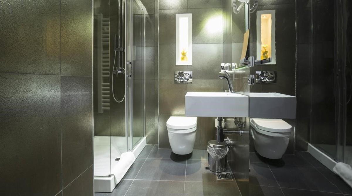 Un lavabo de un hotel.