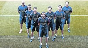 De la Fuente,Pol, Unzué, Luis Enrique, Moreno, Barbará i Valdés.