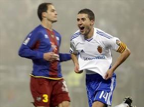 El futbolista Gabi, cuando jugaba en el Zaragoza.