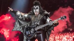 Gene Simmons, en el concierto de Kiss en el Rock Fest del 2018.