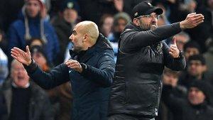 Guardiola (City) y Klopp (Liverpool), dos entrenadores civilizados.