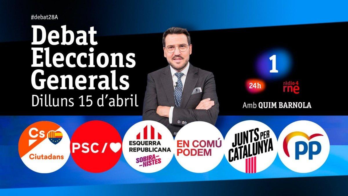 Imagen promocional de Debat Eleccions Generals de TVE Catalunya.