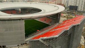 Imágenes aéreas del Ekaterinburg Arena