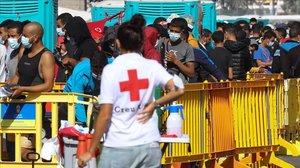 Crisis migratoria en Canarias: Barranco Seco recibe más inquilinos