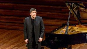 Javier Perianes, durante una actuación anterior en el Palau.