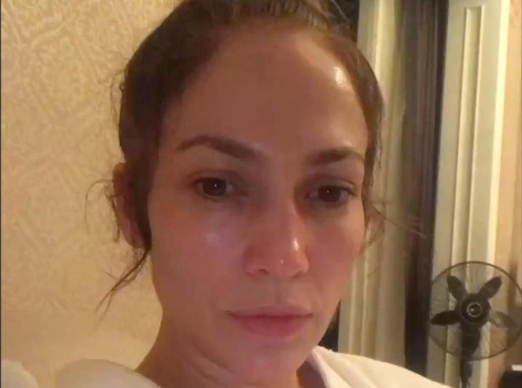Jennifer Lopez se muestra sin maquillaje en su cuenta de Instragram.