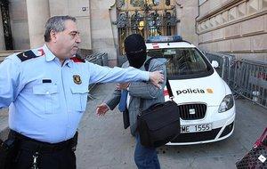 Joaquim Benítez, a su llegada a la Audiencia de Barcelona.