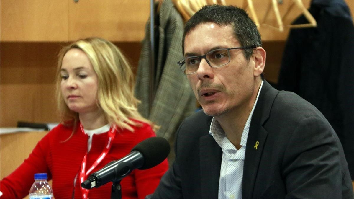 Jordi Naval, director general de Biocat, en rueda de prensa.