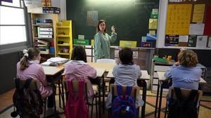 Una clase en la Escola Lexia