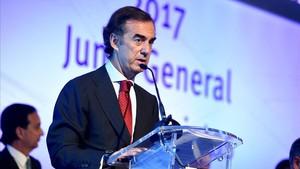 Juan Villar Mir de Fuentes, en la última junta de accionistas de la compañía.
