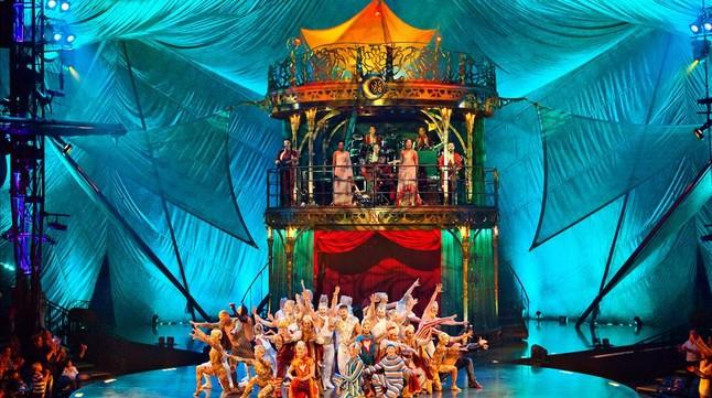 Espectáculo 'Kooza', del Cirque du Soleil, en Port Aventura, en el verano del 2014.