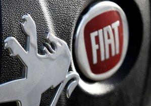 Logos de Peugeot y Fiat.