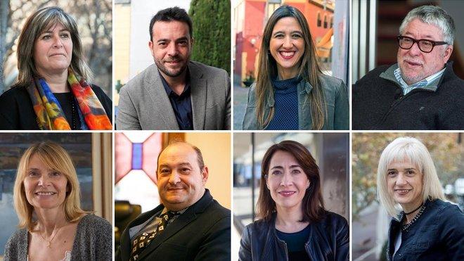 Los alcaldesNúria Marín,Álex Pastor,Núria Parlon,Antoni Balmón,Lluïsa Moret,Carles Ruiz,Raquel Sánchez yPilar Díaz,