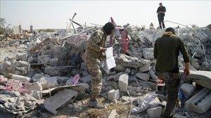El lugar donde tuvo lugar la operación contra Al Bagdadi, el pasado octubre.